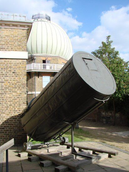 """A piece of William Herschel's Telescope, Royal Observatory, Greenwich. This is all that remains of the tube of the Great Forty-foot. The original mirror is in the Science Museum, London. ©Mona Evans, """"Space at the Science Museum London"""" http://www.bellaonline.com/articles/art179333.asp"""