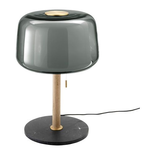Evedal Table Lamp Grey Marble Grey Ikea Lamp Grey Table Lamps Table Lamp