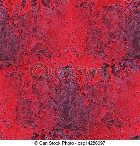 Stock Photographs of seamless red, paint, old rusty iron ...