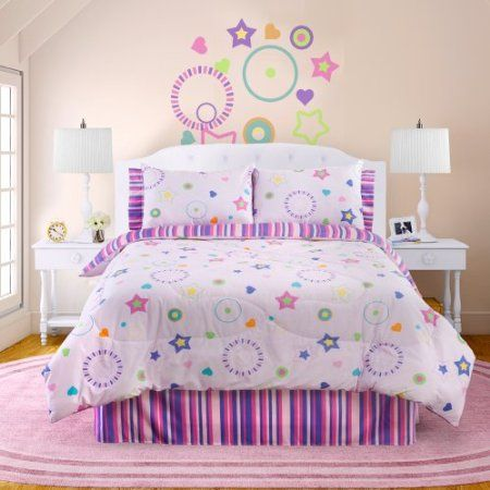 Glow In The Dark Bedding With Pink Bright Star Theme   Fun For Kids At  Night. Dark Star3/4 BedsBedroom IdeasGirls ...