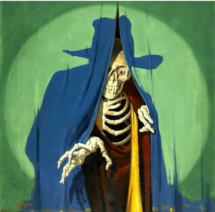 Pulp Art, Art, Vintage Horror