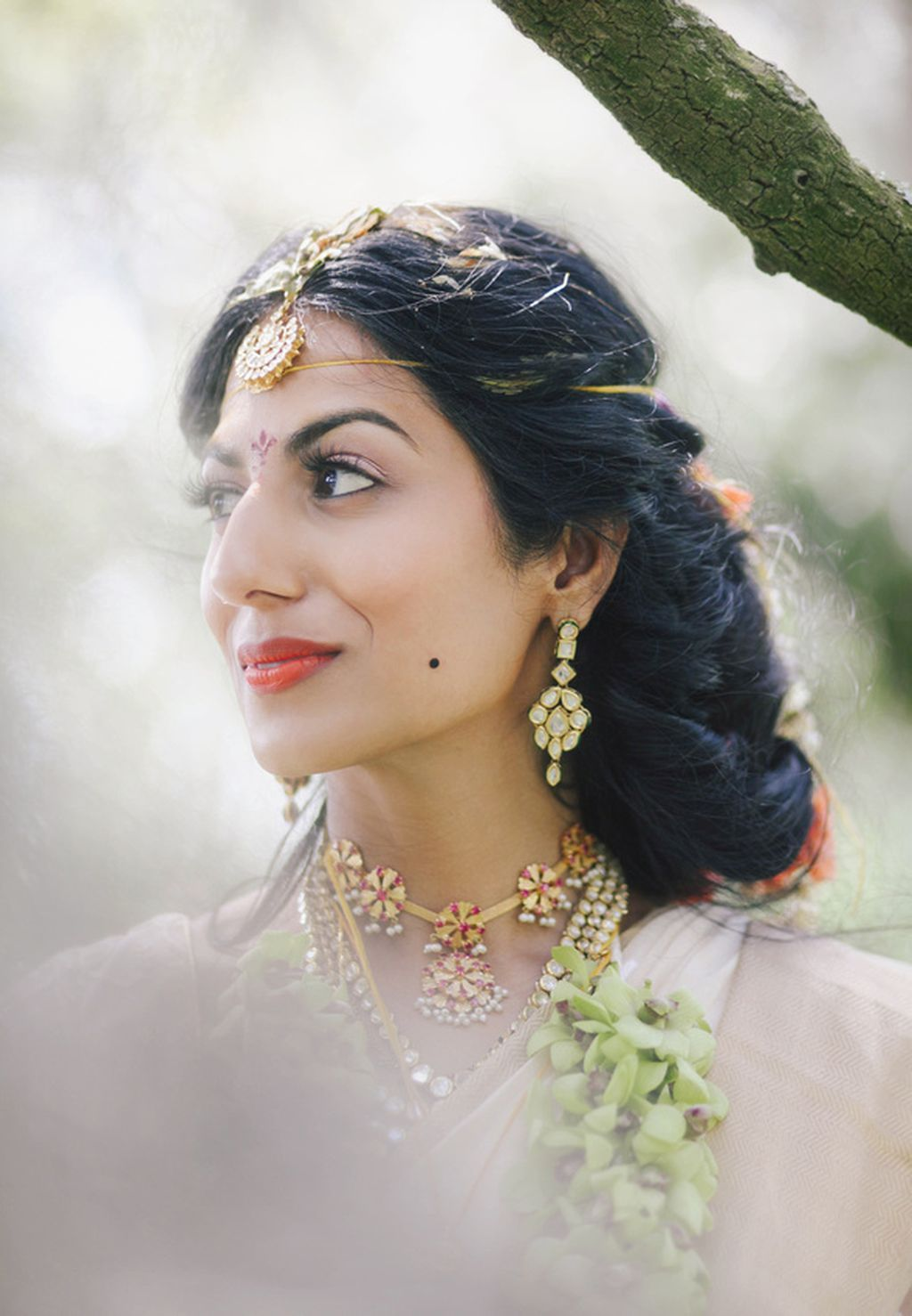 the crimson bride image bohemian south indian wedding in new