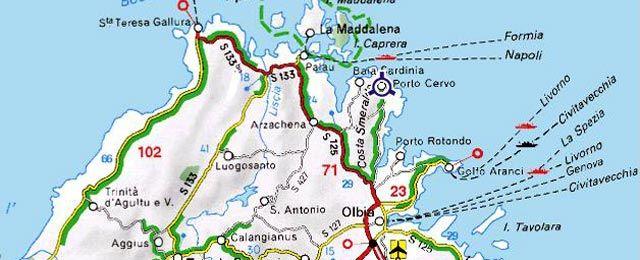 Costa Smeralda Sardinia Lugares