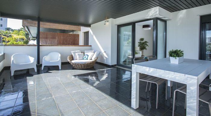 Terassengestaltung  terrassengestaltung ideen bilder terrasse in weiß einrichten und ...