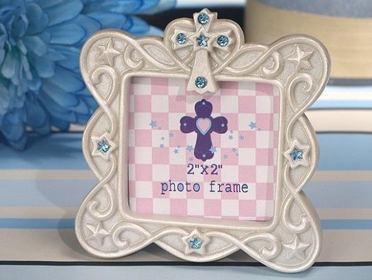 Blessed Events Cross Design Photo Frame Party Favor First