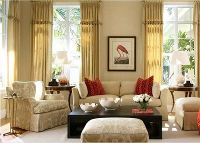 Elegant Beige Room With A Splash Of Red Beige Living Rooms Beige Room Beautiful Living Rooms