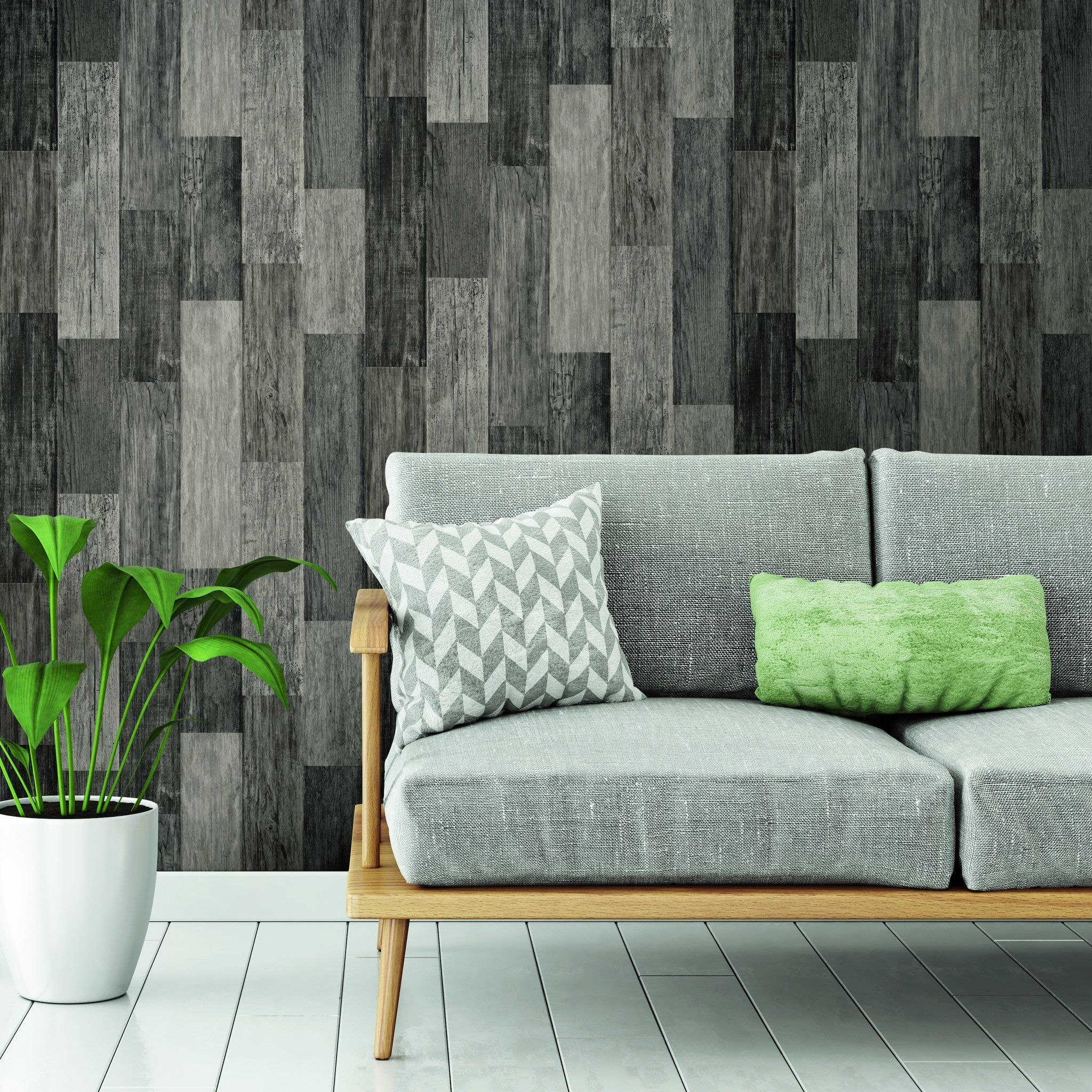 Weathered Wood Plank Black Peel Stick Wallpaper Wood Plank Wallpaper Cheap Apartment Decorating Weathered Wood
