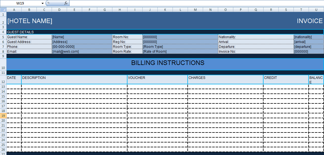 Get Hotel Bill Format In Excel Template Exceldox Excel Project