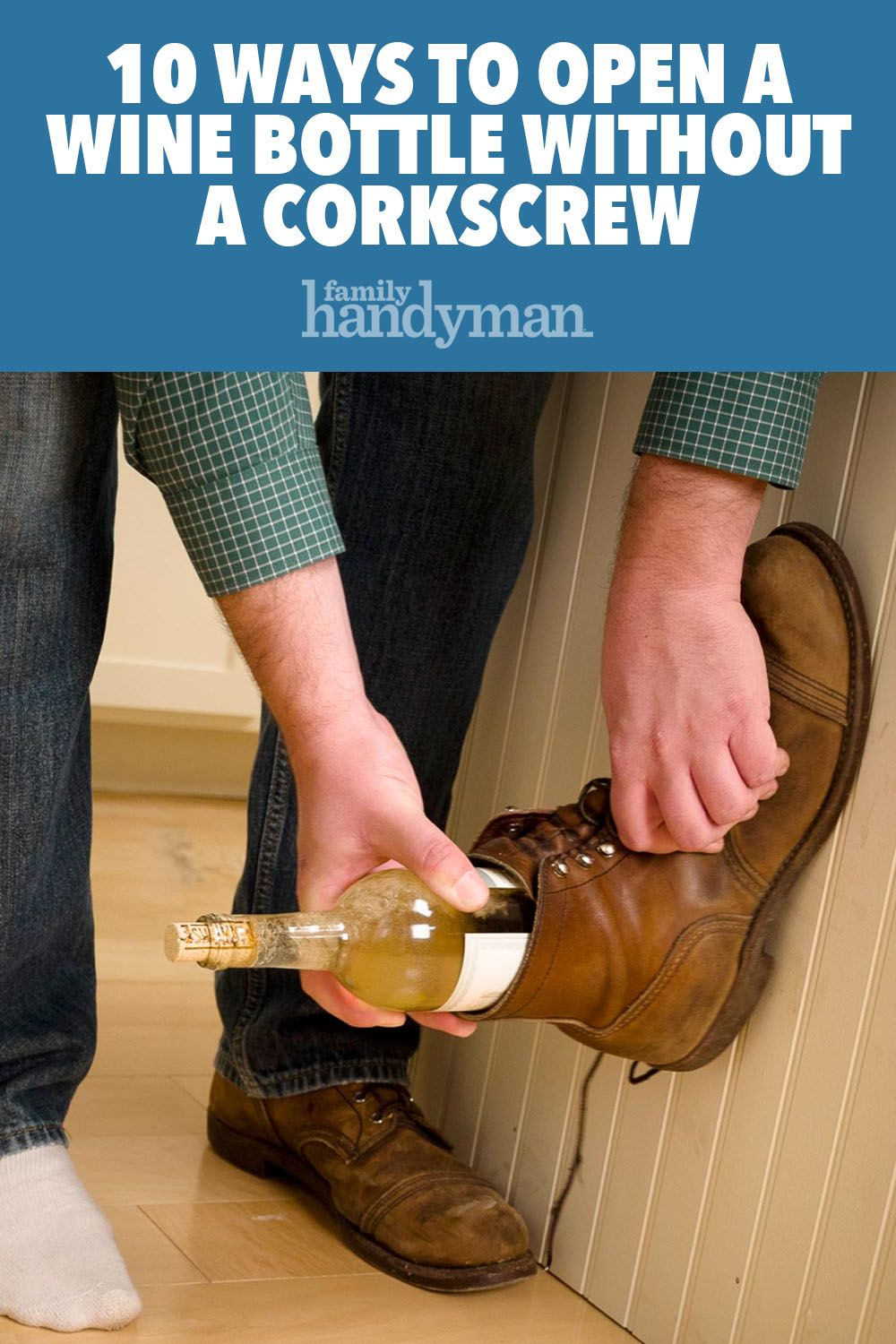 how to get a wine cork out with a knife