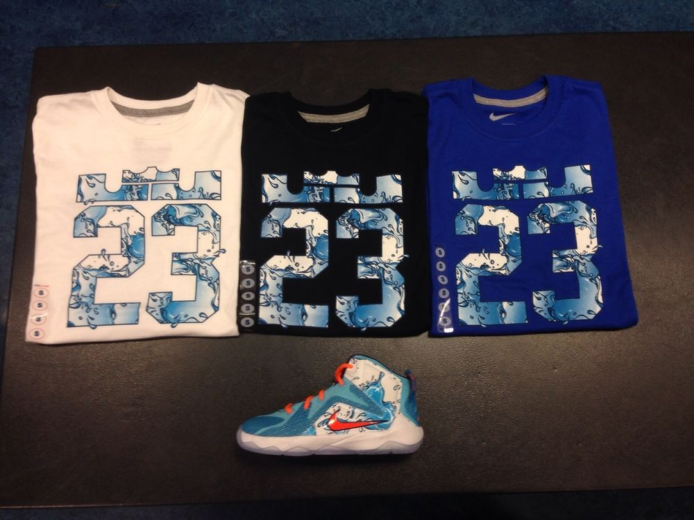 best service 486fb ba8e6 Nike Lebron 12 Buckets Clearwater Blue Lagoon GS Preschool Size 4T-XL  Shirts  Nike  Athletic