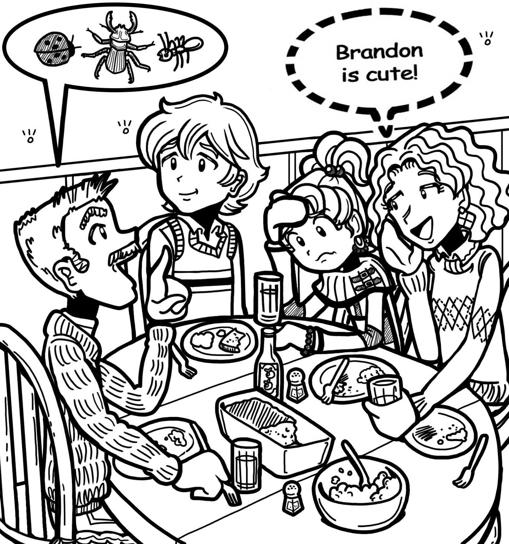 Image Brandon And Nikki S Family Jpg The Dork Diaries Wiki Dork Diaries Free Coloring Pages Coloring Pages