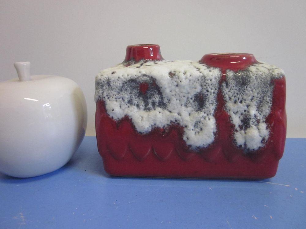 Bay Vase Keramikvase Vase chimney vase lava 70er WGP 60s 70s