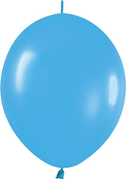 "Great way to make a balloon canopy or if you want to connect balloons together. Balloons.com - 6"" FASHION BLUE LINKOLOON (100CT) $8"