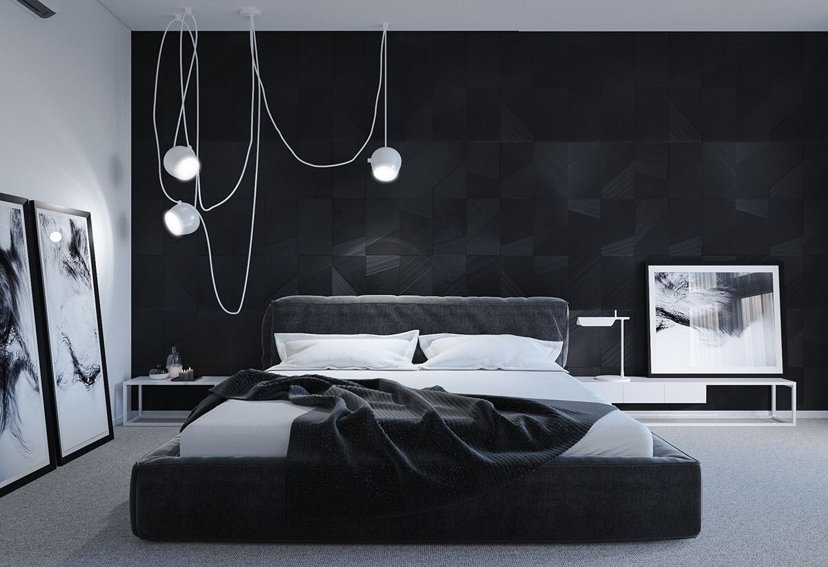 Gorgeous Dark Bedroom Designs With Minimalist And Playful Approach Themes  Decor To Inspire Sweet Dreams. Dark BedroomsBlack White ...