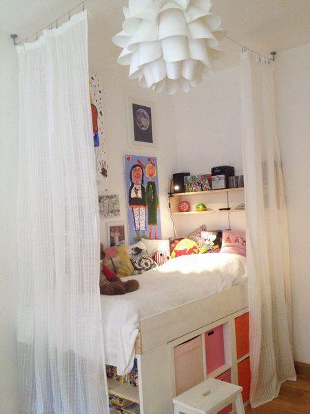 fertig kids diy deko m dchenzimmer bett kinderzimmer und hochbetten kinderzimmer. Black Bedroom Furniture Sets. Home Design Ideas