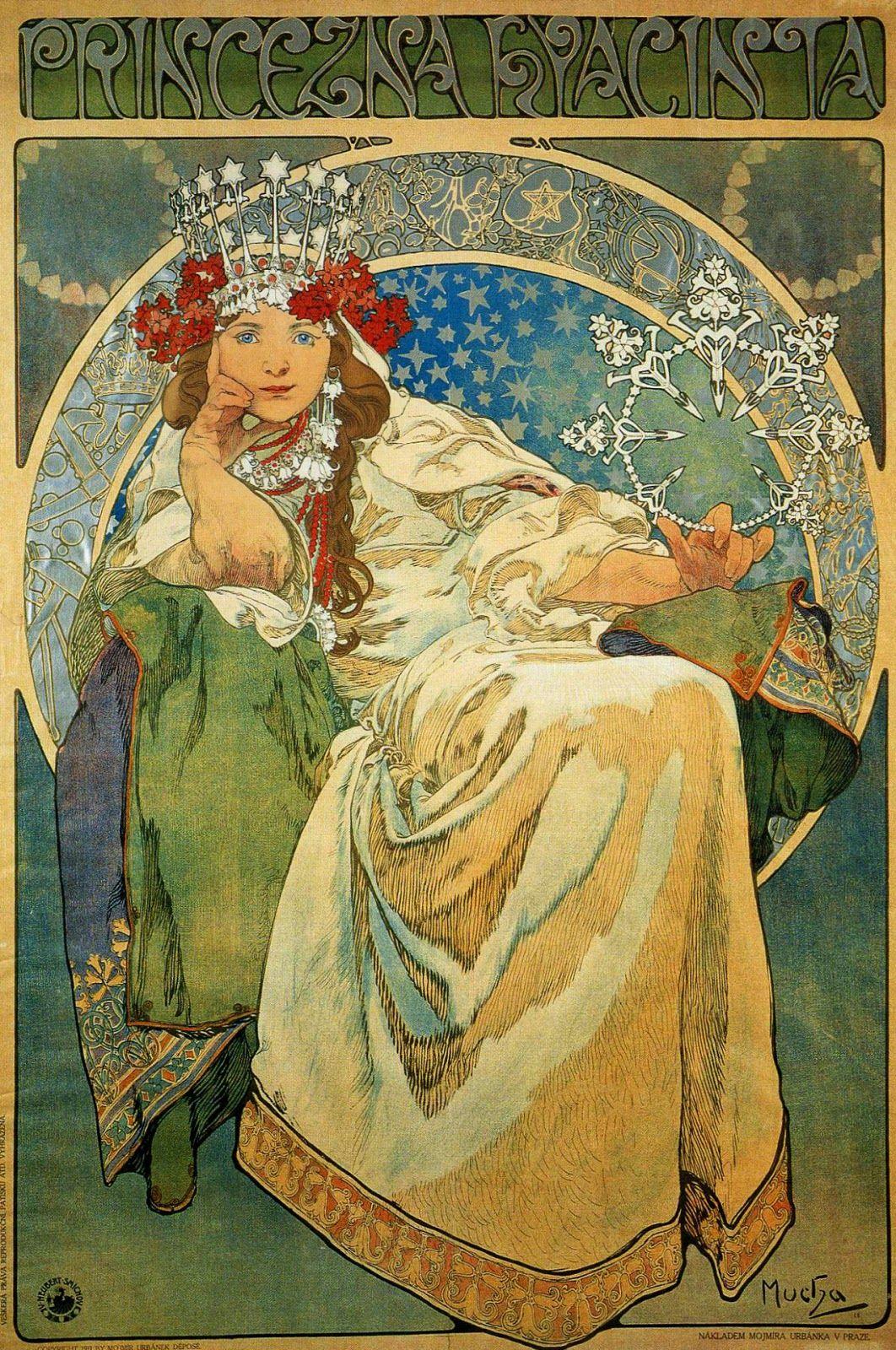 Art in Space: Alphonse Mucha: Princess Hyacinth (1911)