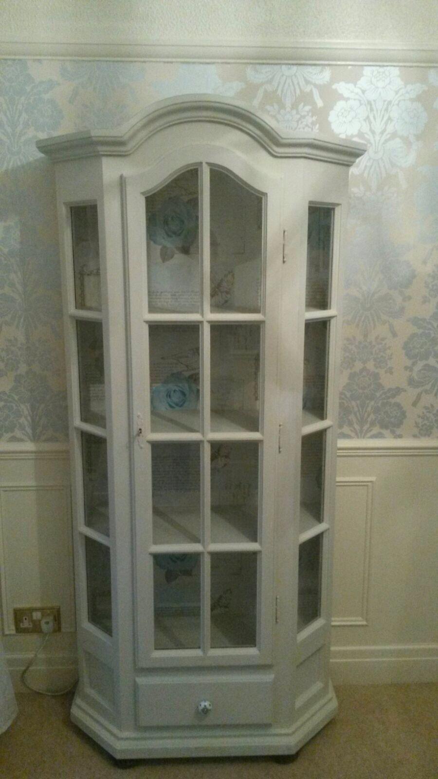 Curio Cabinet Painted In Frenchic Furniture Paintu0027s   Sugar Puff