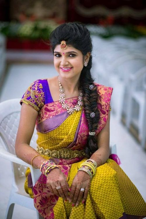 17 South Indian Hairstyles To Show Off That Thick Long Hair Hairstyle Monkey South Indian Hairstyle Indian Bridal Hairstyles South Indian Bride Hairstyle