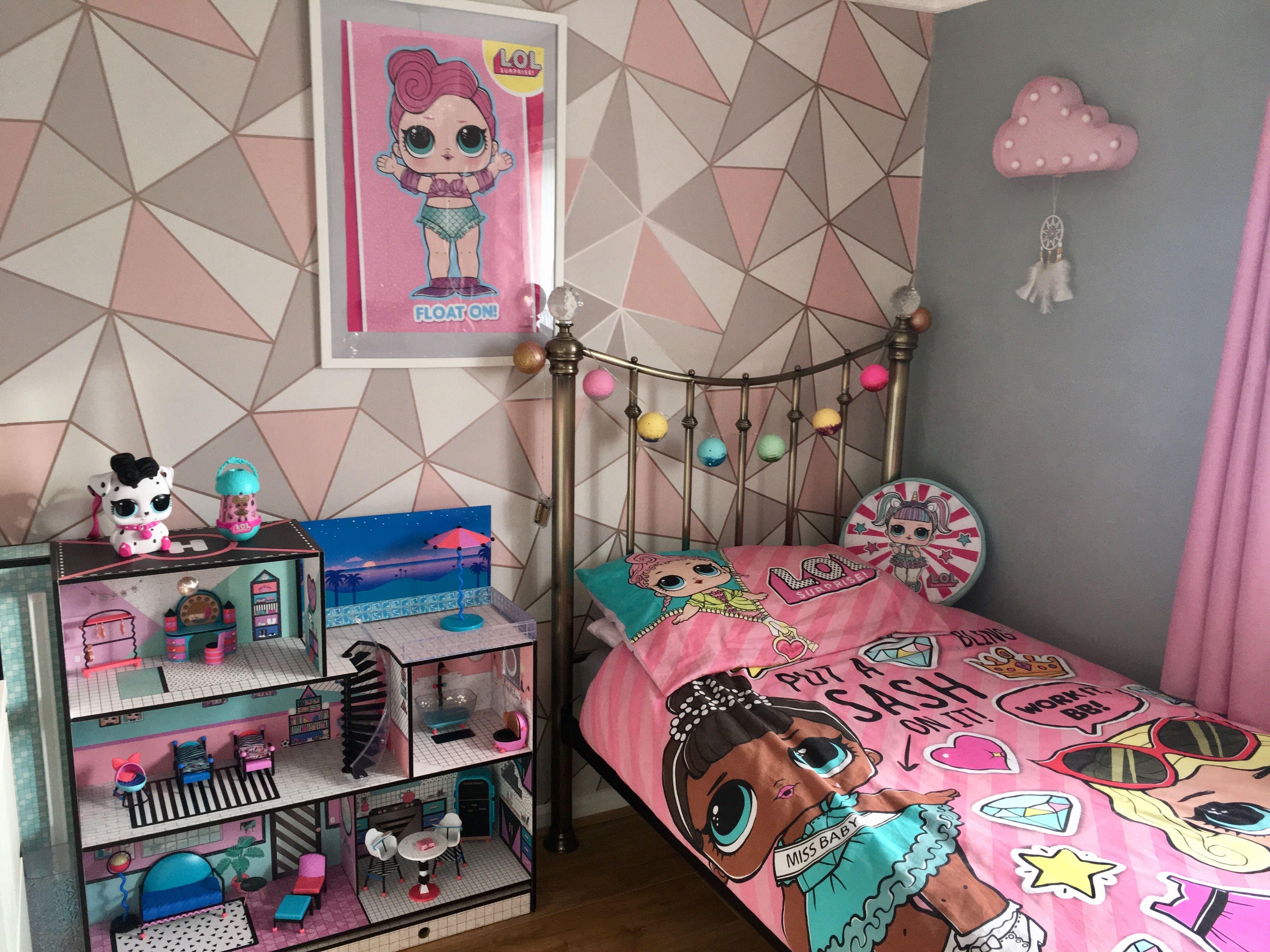 My Little Girls Lol Inspired Bedroom Girlsbedroom Lolsurprise Lol Lolsurprisedolls Loldolls Toddler Girl Room Cool Girl Bedrooms Kids Bedroom Designs