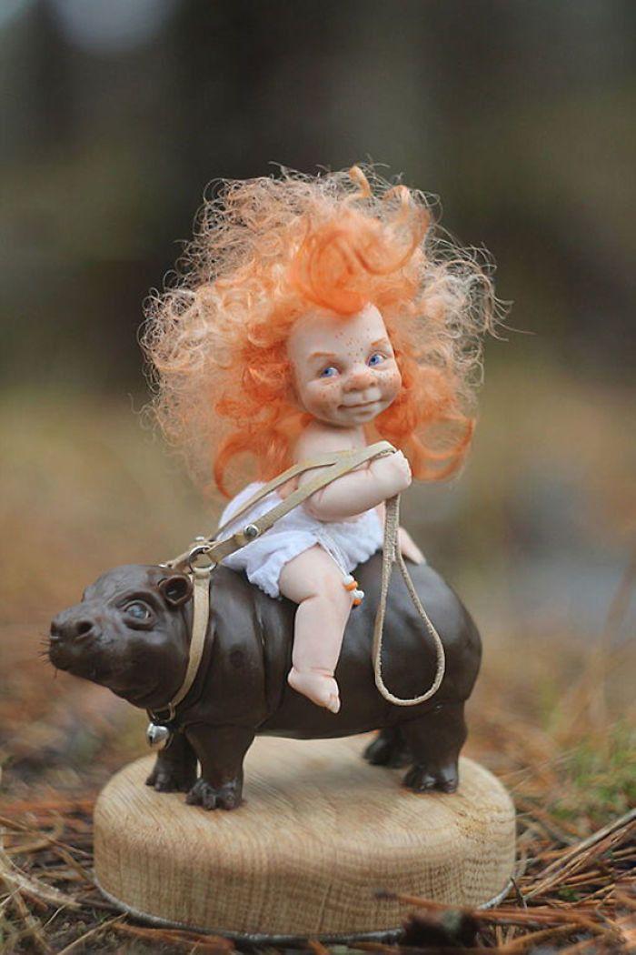 Прикольные картинки куколки, открыткой ребенку