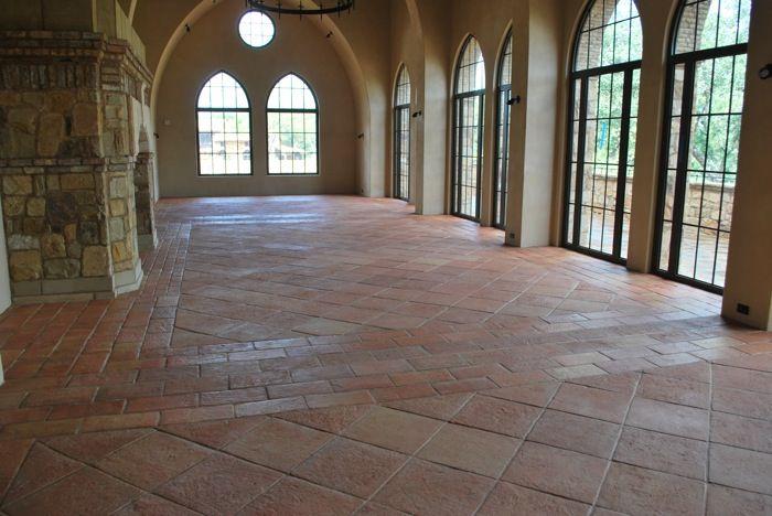 saltillo tile saltillo tile and heritage tile conbined together with a light grout i