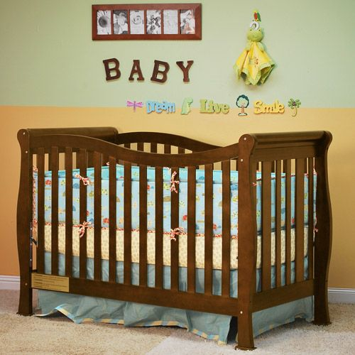 AFG Athena Nadia 3-in-1 Convertible Fixed-Side Crib, Espresso - $169.00