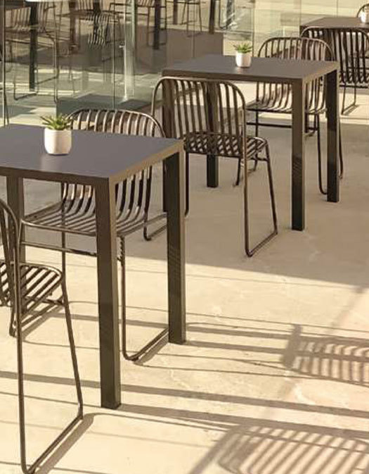 afffad95804 The NEW Riviera Collection from Emu Americas will be available in 2019.  These beautiful outdoor stacking chairs are solid steel with the option of  adding a ...