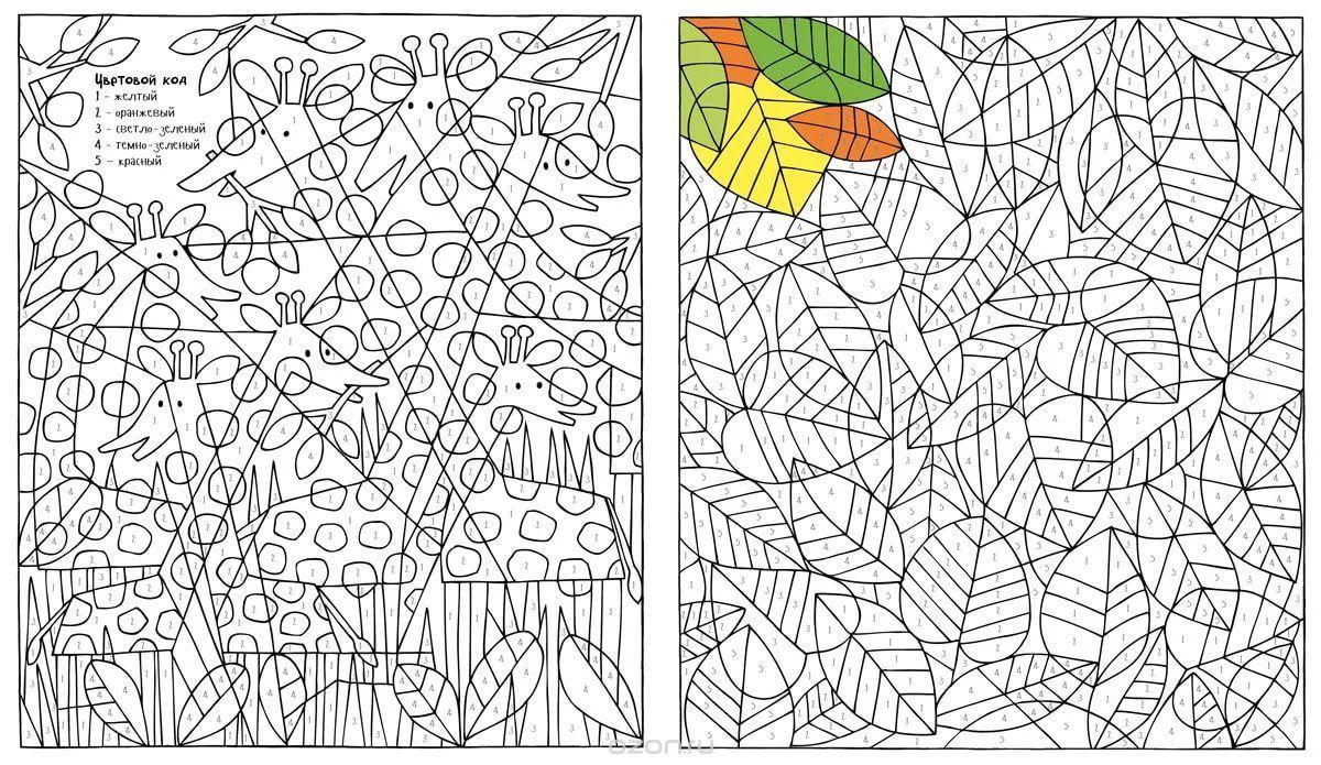 раскраски антистресс по номерам цветов: 11 тыс изображений ...