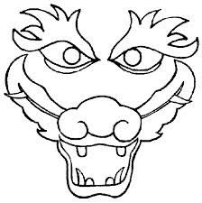 I Print This Dragon Face On 11 X 17 Paper And Have The Kids Color
