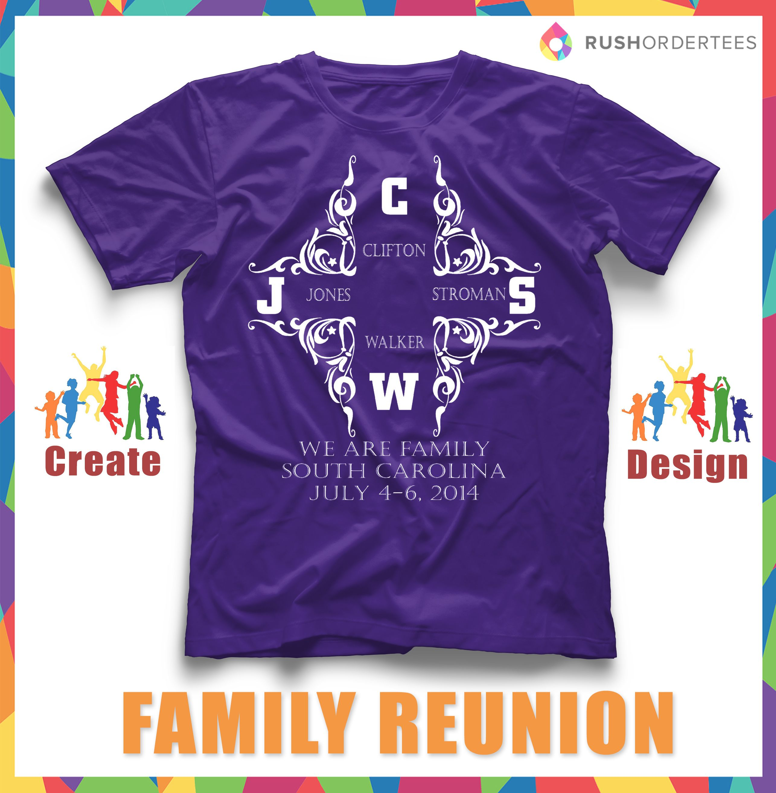 Design your own t-shirt for family reunion - Elegant Design For A Family Reunion T Shirt Create Customshirts For Your