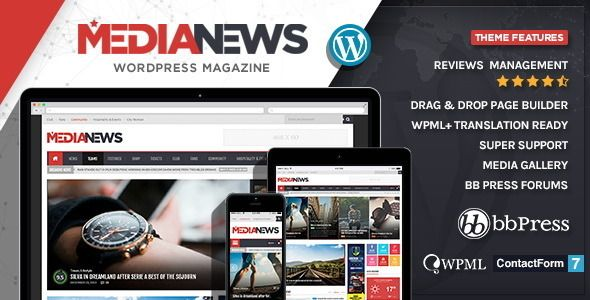 MediaNews - WordPress News Magazine Blog Theme (WordPress, Blog ...