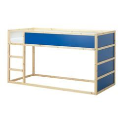 Floris zijn aanstaande bed, eerst nog maar even hard groeien!!  KURA Keerbaar bed - IKEA