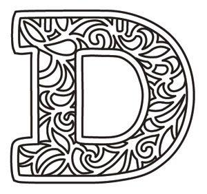 Bunting Letter D design (UTH12786) from UrbanThreads.com