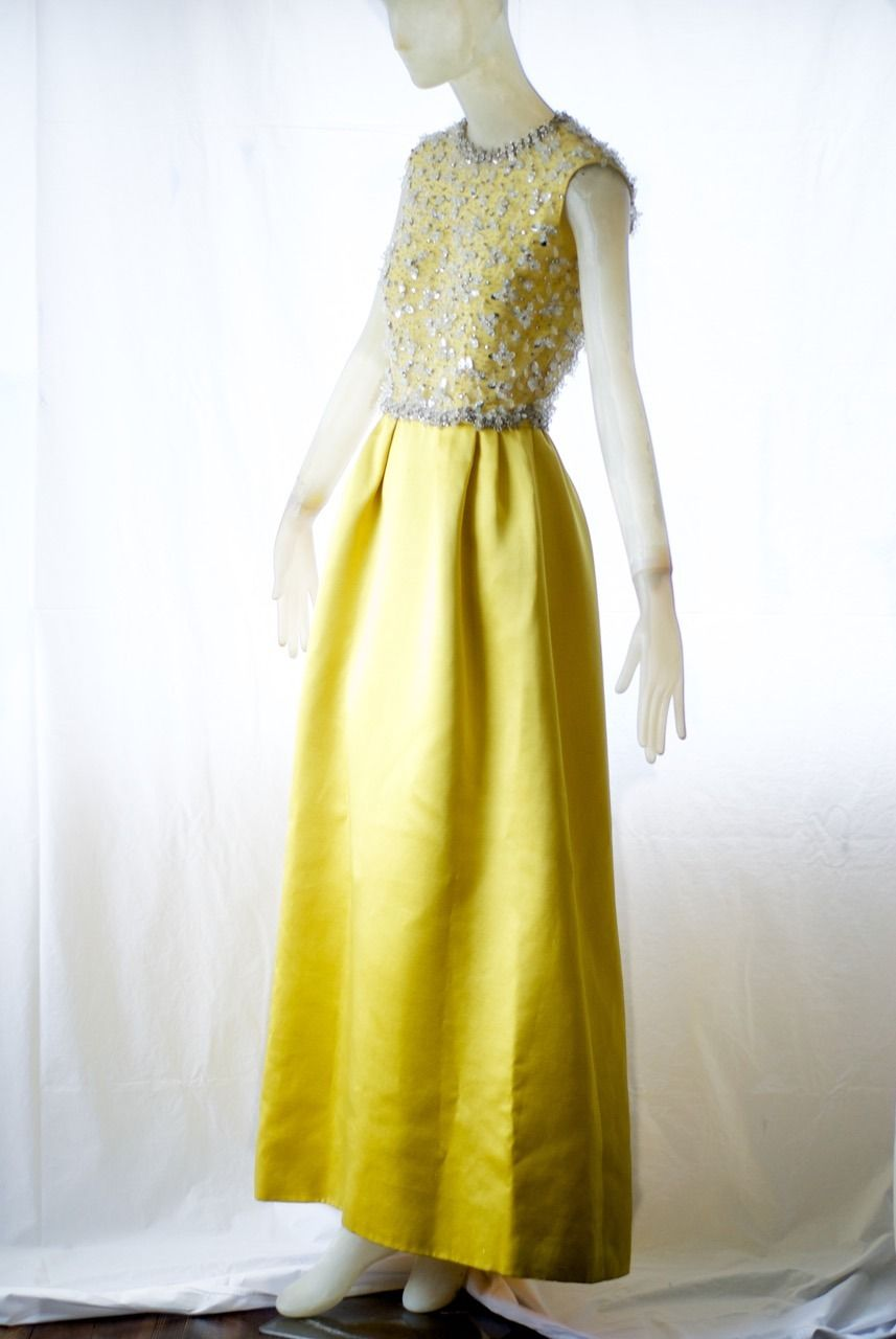 A Rare 1966 Valentino Haute Couture Gown Withe Embroidered