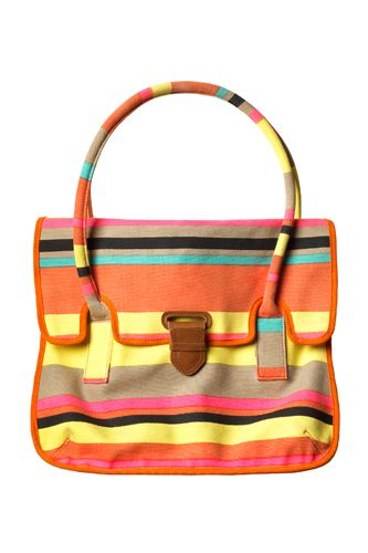 A flap satchel you can pick up at your local (Canadian) grocery store? Yes, please!     Joe Fresh Stripe Tote, $49, available in May at Joe Fresh, 110 5th Avenue, New York, NY 10010  212-366-0960
