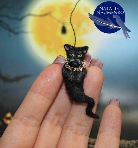 1.5x2 DOLLHOUSE MINIATURE PRINT OF PAINTING RYTA 1:12 SCALE BLACK CATS HALLOWEEN