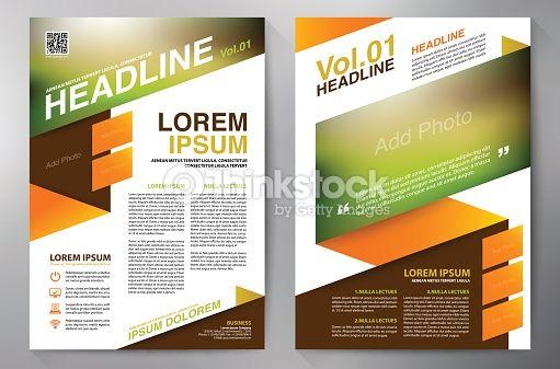 Vector Art : Brochure design a4 template. Vector