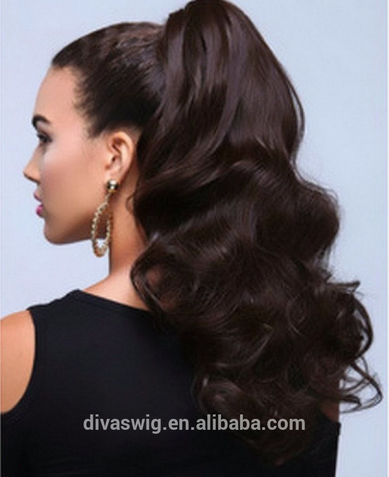 Shopping Online Top Quality Loose Wave Human Hair Ponytail Extension