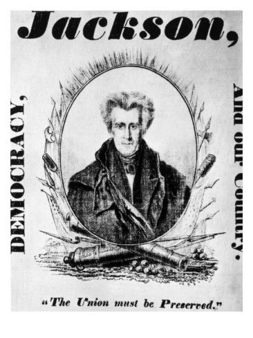 andrew jackson 1828 presidential election campaign posters and