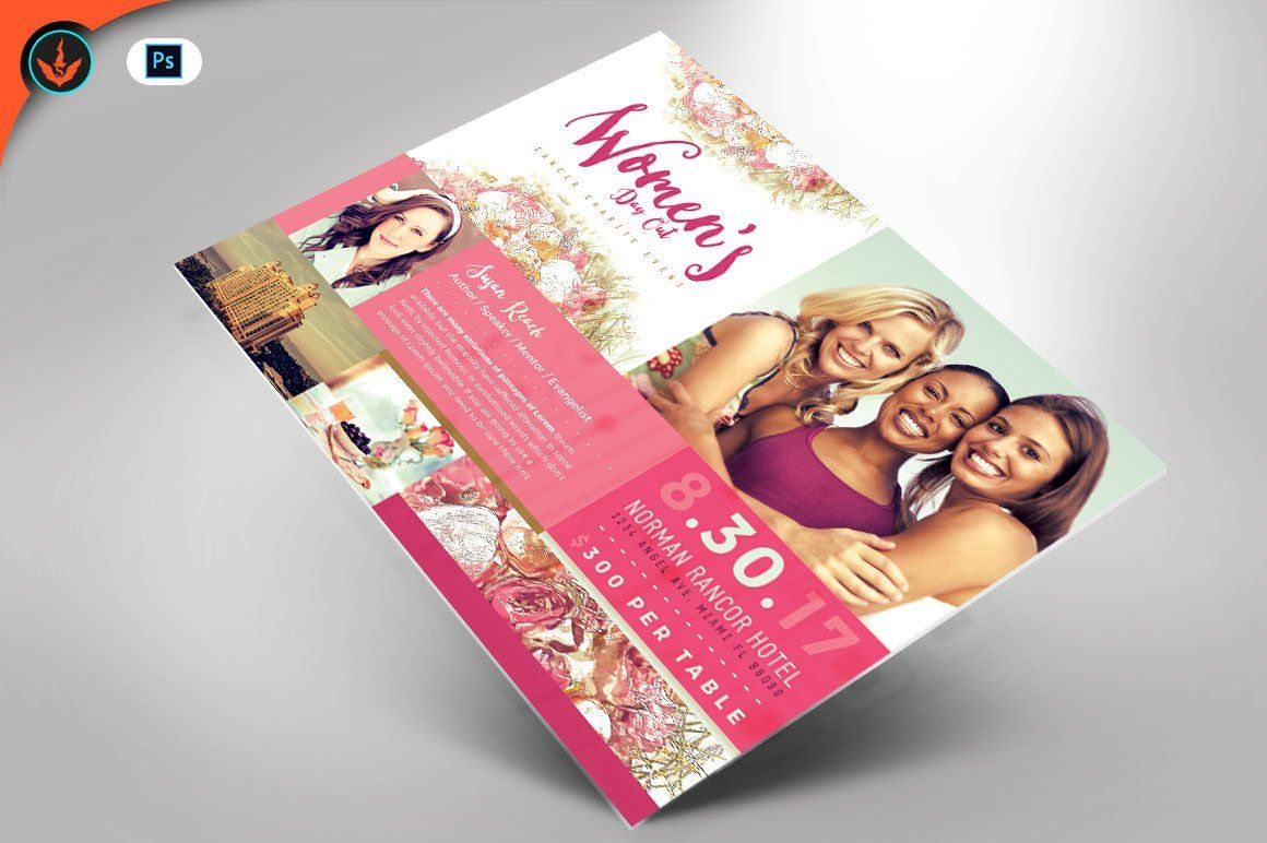 Women S Day Out Cancer Flyer Photoshop Template 4x6 In 2018 The