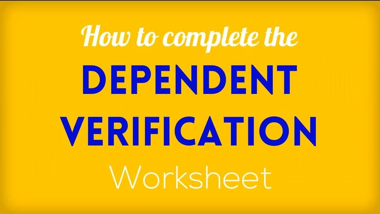 Ofas Presents How To Complete The Dependent Verification