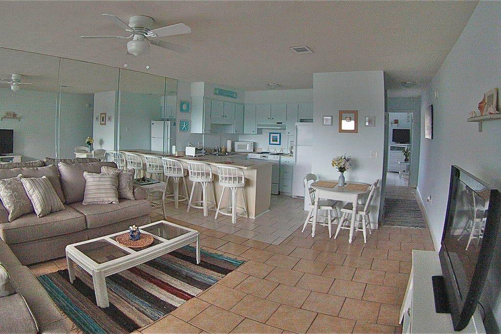 Santa Rosa Beach Spacious Living Room.