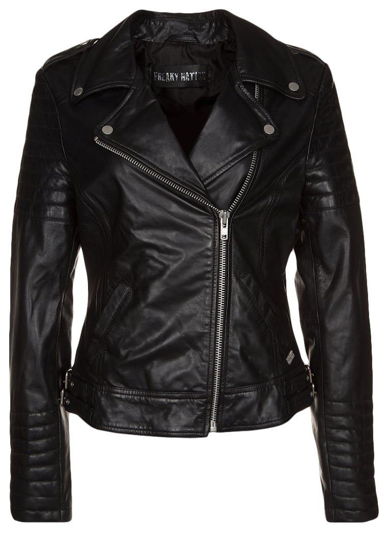 PASSENGER - Veste en cuir - black