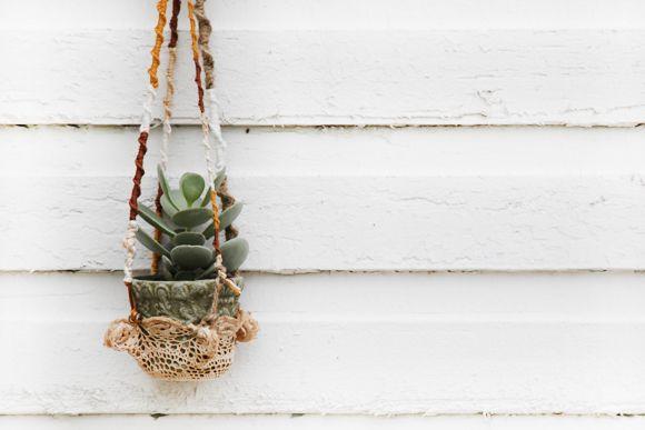 Post image for DIY Hanging Crochet Plant Holder