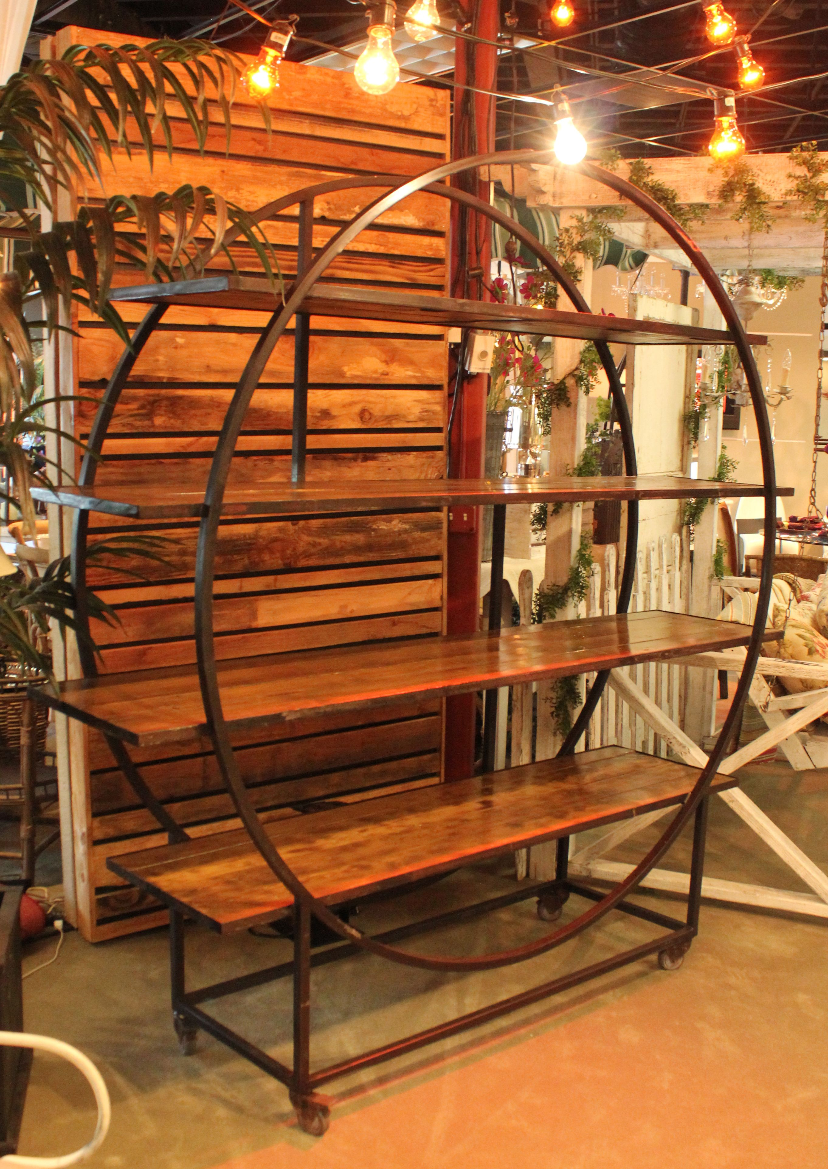 Edison 6\' Circular Back Bar with Wood Shelves | Town & Country Event ...