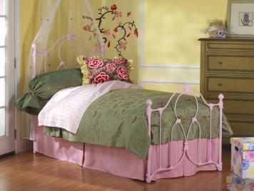 Full Ariel Complete Bed w/ Slatted Frame Wesley Allen