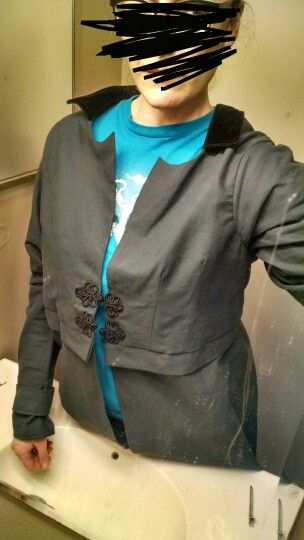 Custom coat: if i fasten frogs and let hang naturally. the collar and lapels simply do not want to lay correctly. Could some serious ironing be a simply fix? Or should i add structure or tack in place?