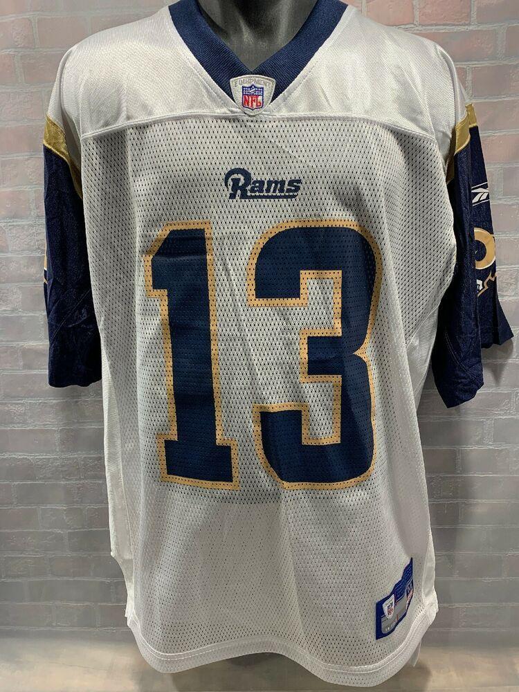low priced ec7eb a0a51 Kurt WARNER #13 Los Angeles RAMS Reebok Football Jersey Size ...