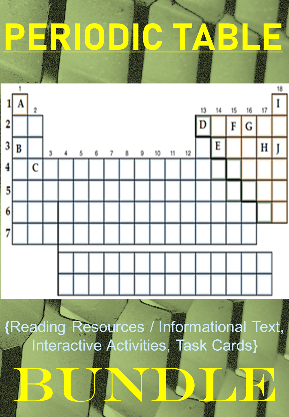 Periodic Table All In 1 Bundle Digital Activities Reading Notes Task Cards Task Cards Digital Activities Reading Notes