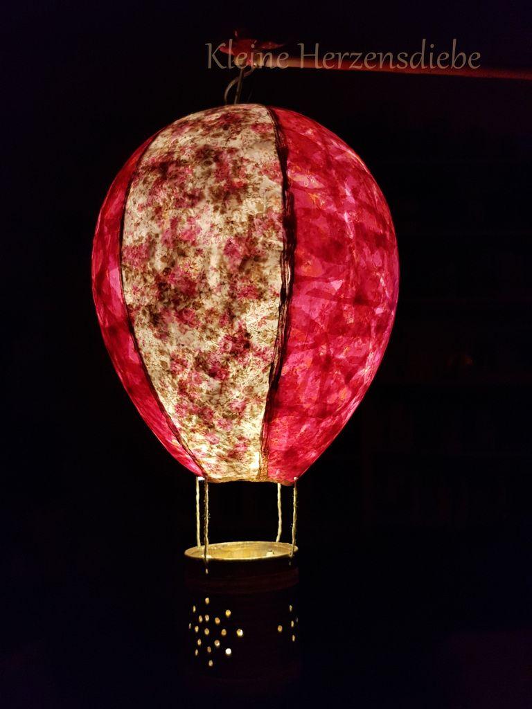 DIY: Heißluftballon-Laterne – Kleine Herzensdiebe #laternebastelnkinder